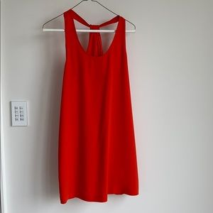 BCBG red mini shift dress
